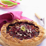 Savory Beet Pie with Ricotta, Radicchio and Leeks