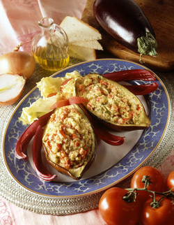 Stuffed Eggplants (Dairy)