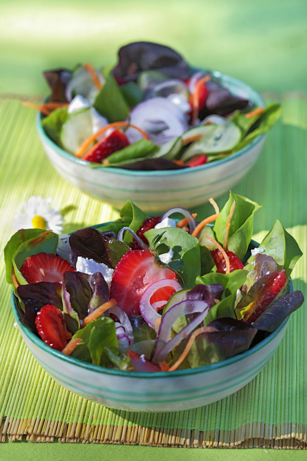 green and red lettuce salad by DinnerInVenice.com