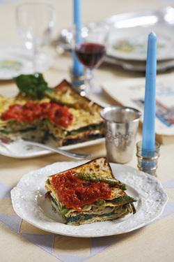 Tortino d'Azzima (Matzo Pie) (Meat or Parve)