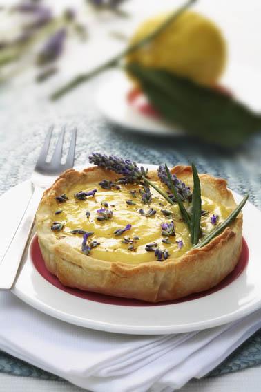 Lemon Lavander Tart by DinnerInVenice