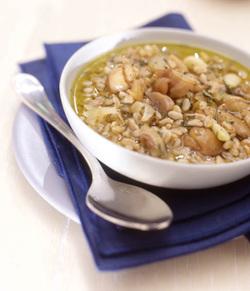 Chestnut and Spelt Soup (Parve)