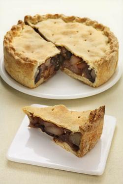 Drunken Pear Pie (Parve or Dairy)
