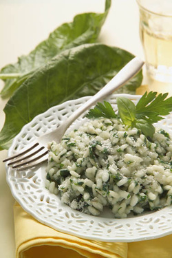 Swiss Chard Risotto (Dairy)