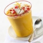 Pumpkin and Pomegranate Cream Soup (Dairy)