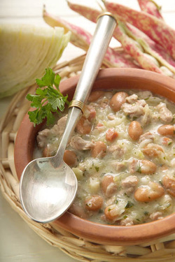 Jota - Saurkraut, Potato and Bean Soup (Parve or Meat)