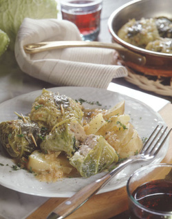 Stuffed Cabbage for Simchat Torah, Italian-Style (Meat)