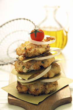 Mashed Potato Latkes with Fresh Herb Medley (Dairy)
