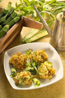 Zucchini Fritters (Parve or Dairy)