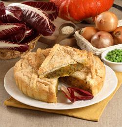 Savory Pumpkin and Radicchio Pie