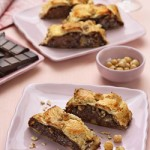 Sfogliata Gianduja e Pere (Puff Strudel with Chocolate, Hazelnuts and Pears) (Dairy or Parve)