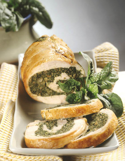 Italian Turkey Roulade with Spinach