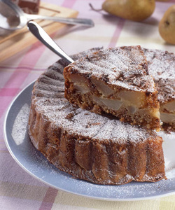 Chocolate Pear Cake (Dairy or Parve)