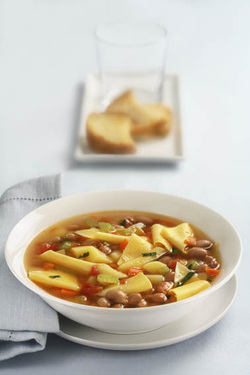 Pasta Soup with Beans (Parve)