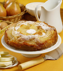 Pear and Honey Cake (Parve or Dairy)