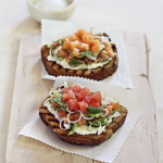 Watermelon and Cantaloupe Bruschetta