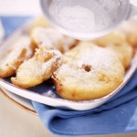 Apple Fritters with Moscato Wine