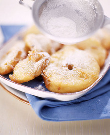 Apple Fritters with Moscato Wine (Parve)