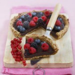 Pistachio Amaretto Crostata with Chocolate and Berries