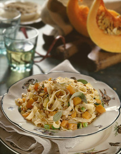 Tagliatelle with Pumpkin and Lentils