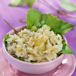 Prosecco and White Grape Risotto