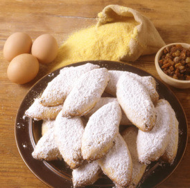Zaleti- Yellow Venetian Cookies (Dairy or Parve)