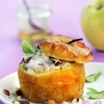 Baked Apple with Hazelnuts, Honey and Yogurt