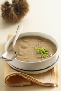 Chestnut and Leek Soup