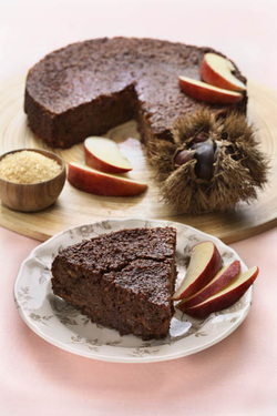 Chestnut and Apple Cake (Dairy or Parve) GF