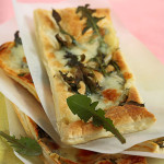 Puff Slices with Dandelion Greens and Cheese