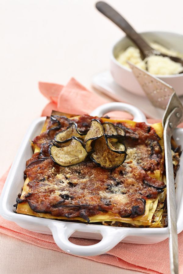 Eggplant Ricotta Lasagna by DinnerInVenice.com