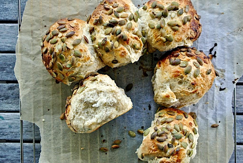 Silvia Colloca's Pumpkin Seed Rolls - SilviasCucina.net for Dinnerinvenice.com 3