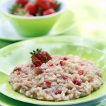 Strawberry Risotto straight from the Eighties by DinnerInVenice