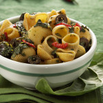Quick Pipe Pasta with Swiss Chard