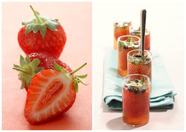Strawberries in Love by @dinnerinvenice