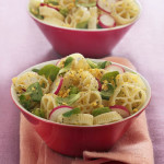 Pasta salad with Egg, Radishes and Mache'