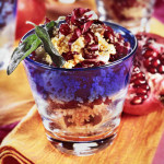 Cous Cous salad with red Radicchio and Pomegranate