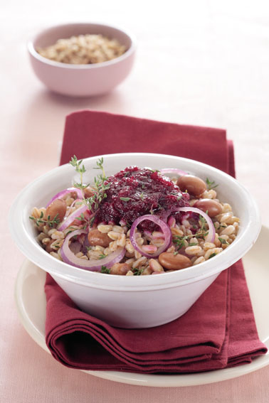 7379 Farro w beet and beans