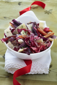 8293 Warm radicchio salad with red Onion and Dates.Dinnerinvenice